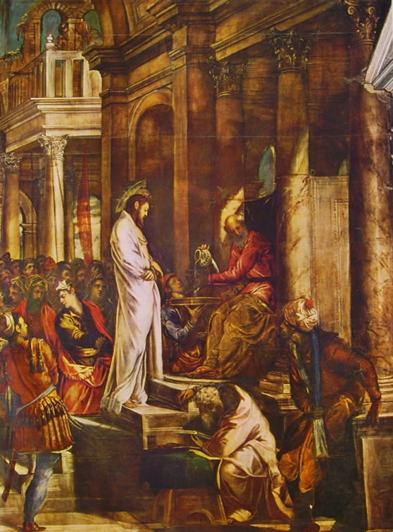 Il Tintoretto: Dipinti per la sala dell'albergo di San Rocco, Cristo davanti a Pilato