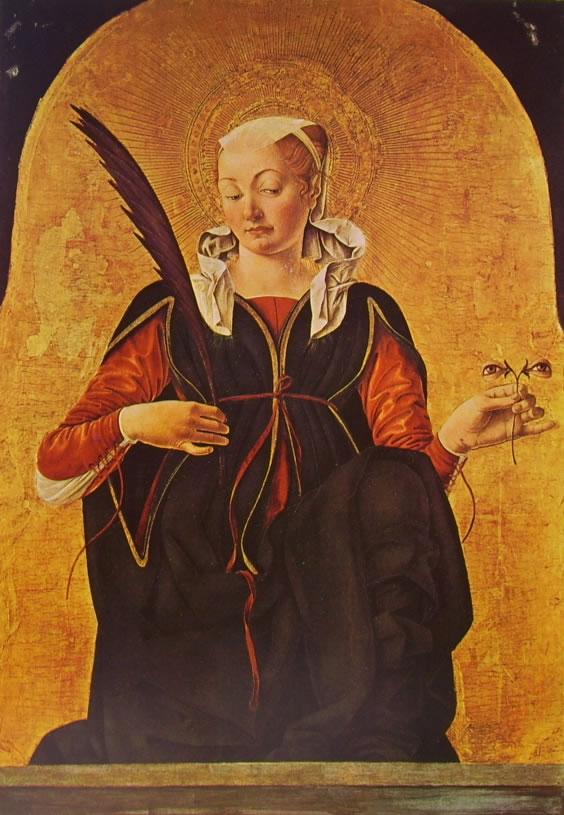 Francesco del Cossa: Santa Lucia