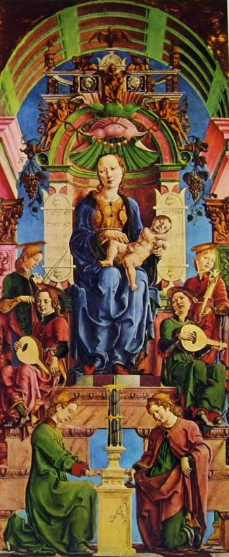 Cosmè Tura: Madonna col bambino in trono