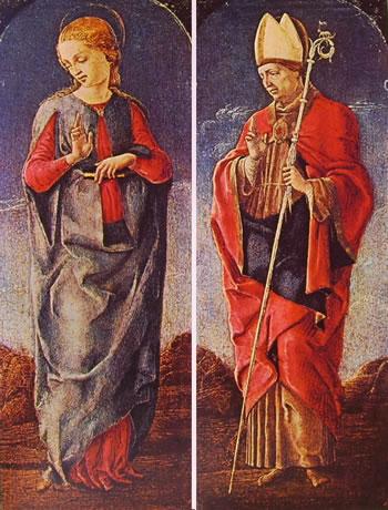 Vergine Annunciante e San Maurelio,