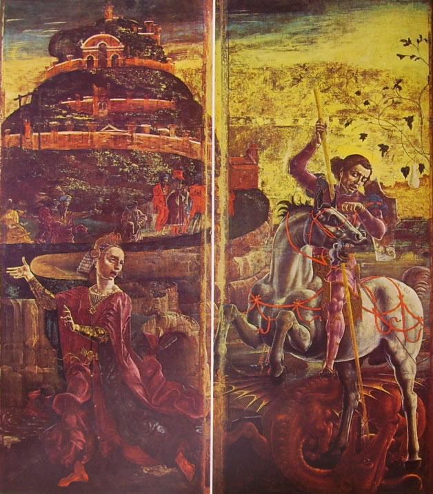 Cosmè Tura: San Giorgio e il drago