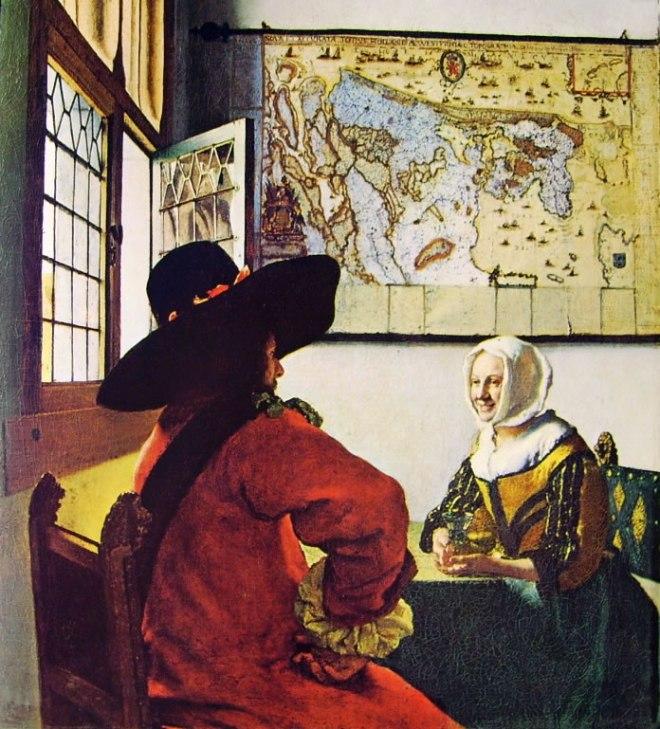 Jan Vermeer: Militare e giovinetta sorridente