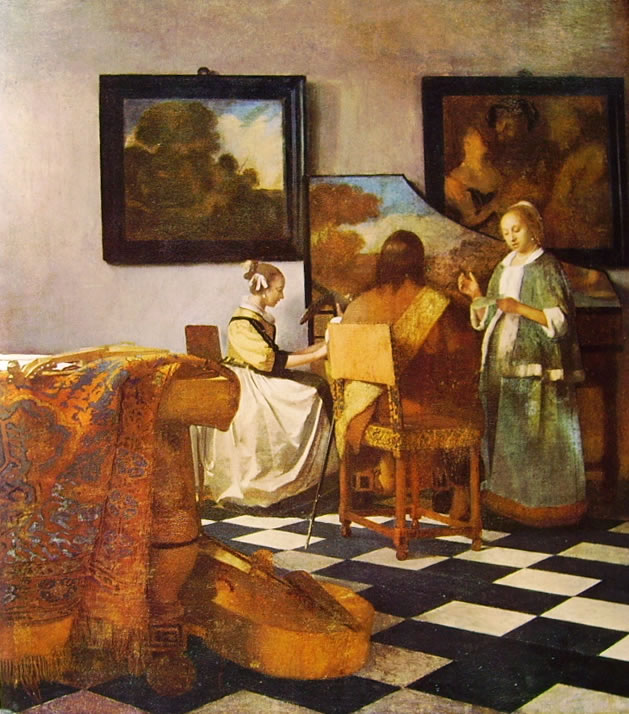 Jan Vermeer: Concerto a tre, cm. 62,8
