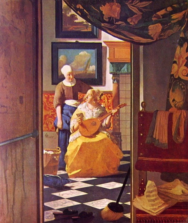 Jan Vermeer: La lettera d'amore