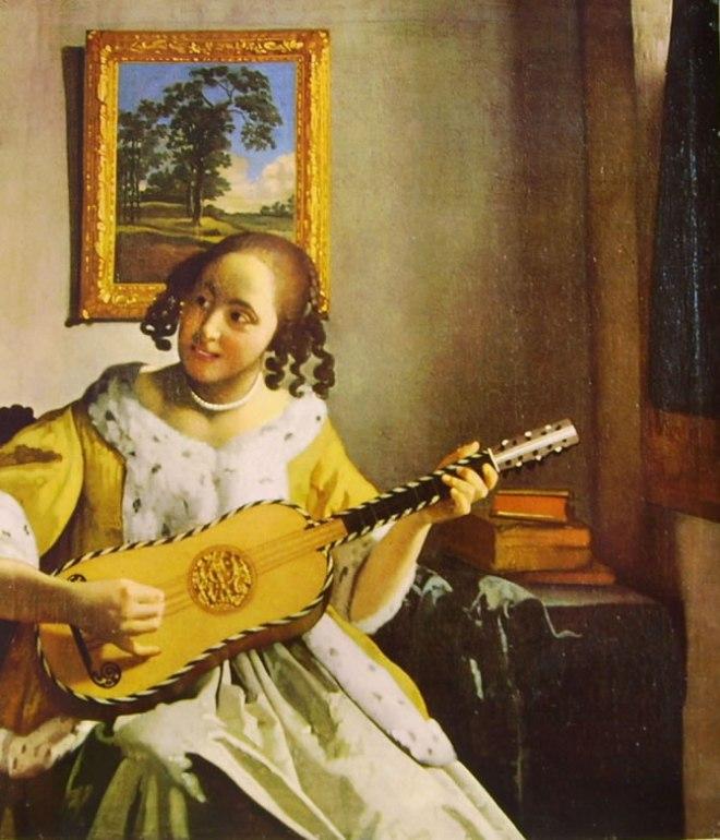 Jan Vermeer: Suonatrice di chitarra