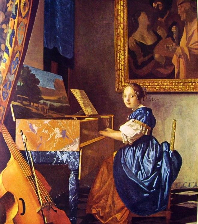 Jan Vermeer: Signora seduta alla spinetta