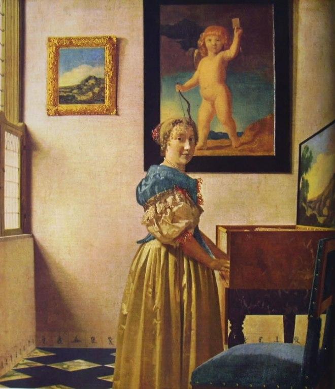 Jan Vermeer: Signora ritta alla spinetta