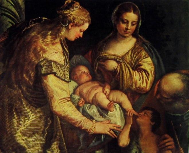 Il Veronese: Sacra famiglia con i santi Barbara e Giovannino