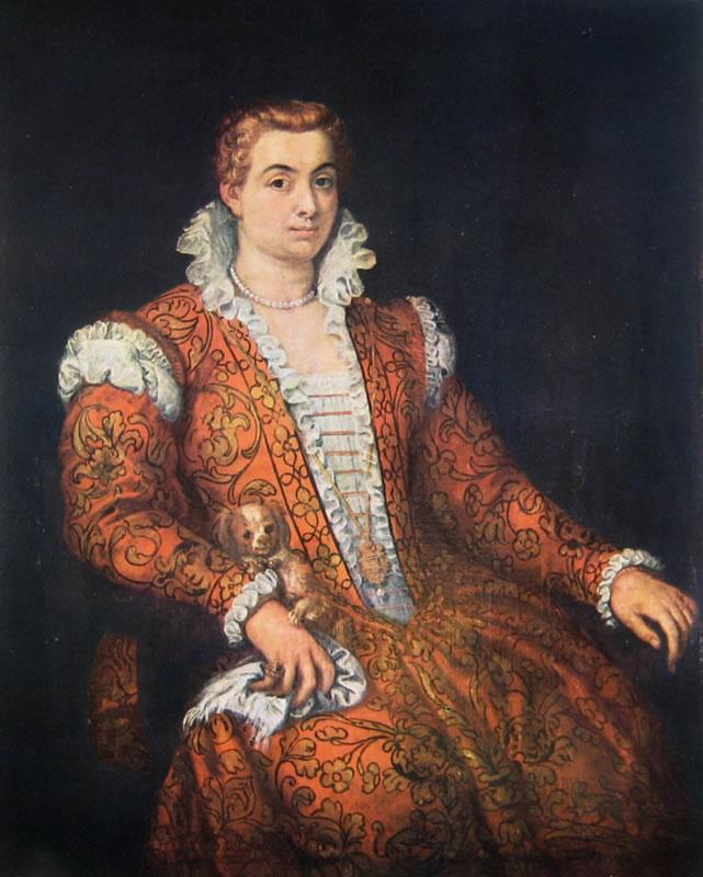 Il Veronese: Dama con cagnolino