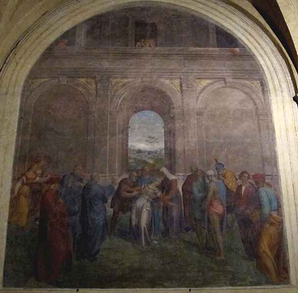 Andrea del Sarto: Chiostrino dei Voti della basilica della Santissima Annunziata, Firenze.
