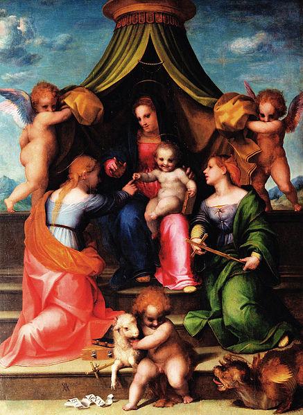 Andrea del Sarto: Matrimonio mistico di santa Caterina d'Alessandria