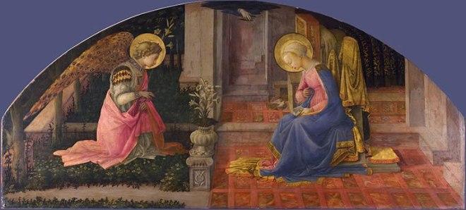 Filippo Lippi: Annunciazione (National Gallery di Londra)