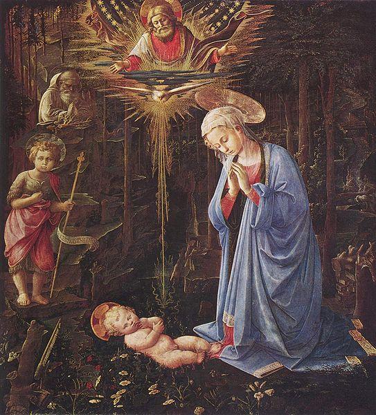 Filippo Lippi: Adorazione del Bambino di palazzo Medici