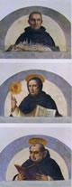 Beato Ambrogio e i Santi Vincenzo Ferrer e Tommaso d'Aquino