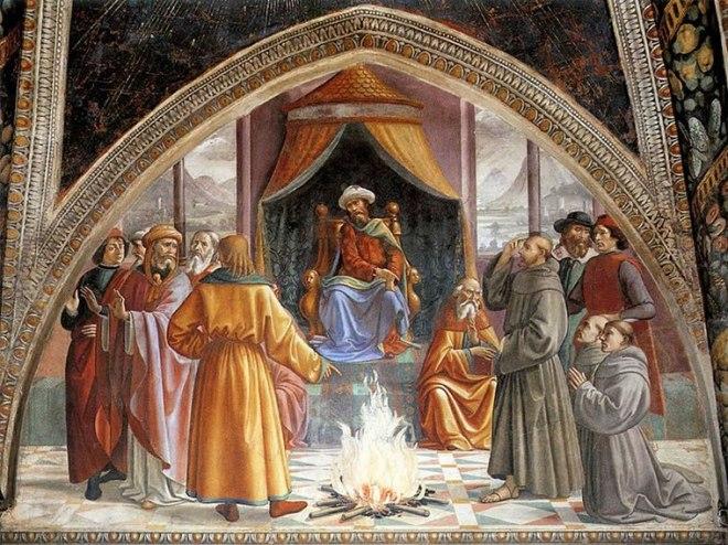 Domenico Ghirlandaio: Prova del fuoco davanti al sultano