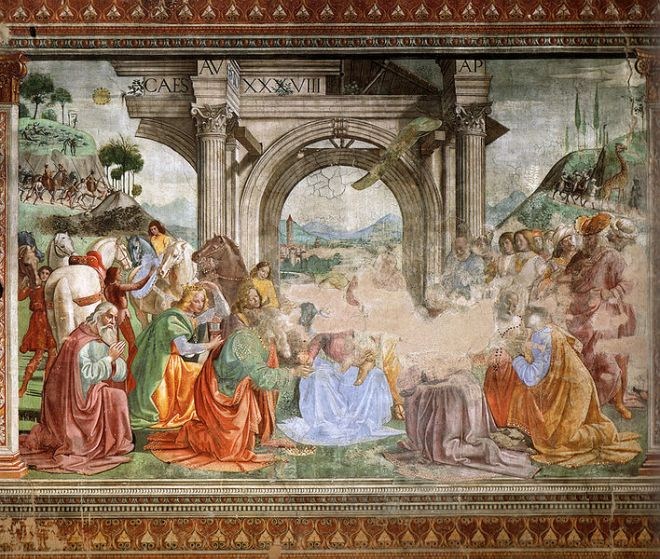 Domenico Ghirlandaio: Adorazione dei Magi