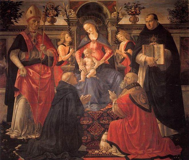 Domenico Ghirlandaio: Sacra conversazione di Monticelli