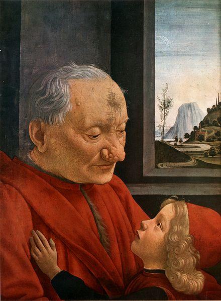 Domenico Ghirlandaio: Ritratto di vecchio con nipote