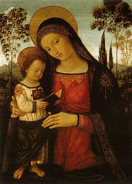 Pinturicchio: Madonna col Bambino leggente