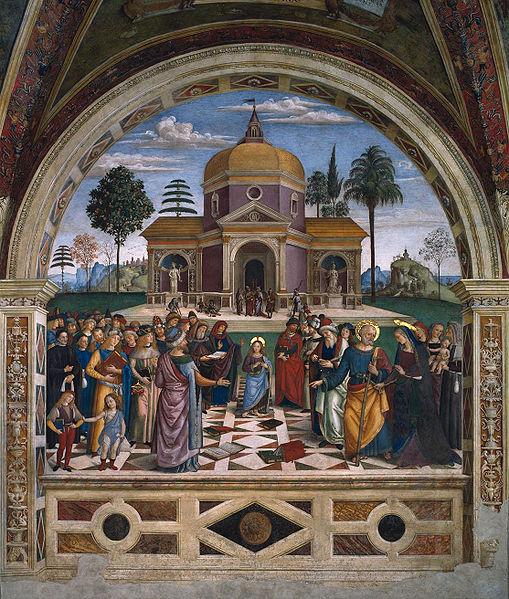 Pinturicchio: Disputa di Gesù coi dottori
