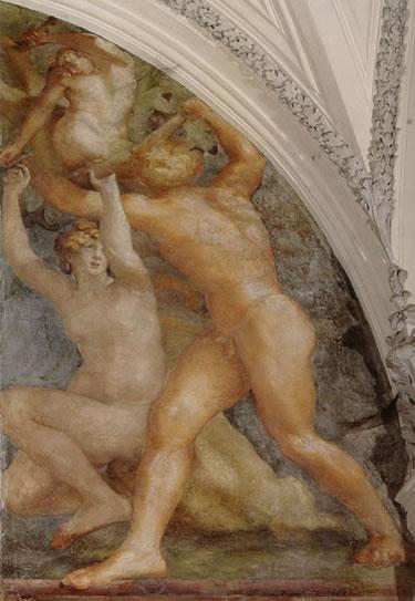 Rosso Fiorentino: Affreschi nella Cappella Cesi - La cacciata