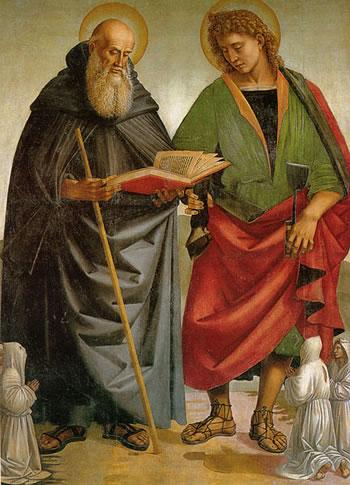 Stendardo della Crocifissione - Sant'Eligio e Sant'Antonio
