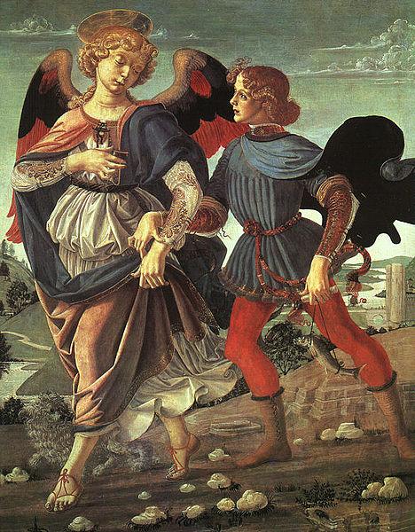 Bottega del Verrocchio, Tobiolo e l'angelo