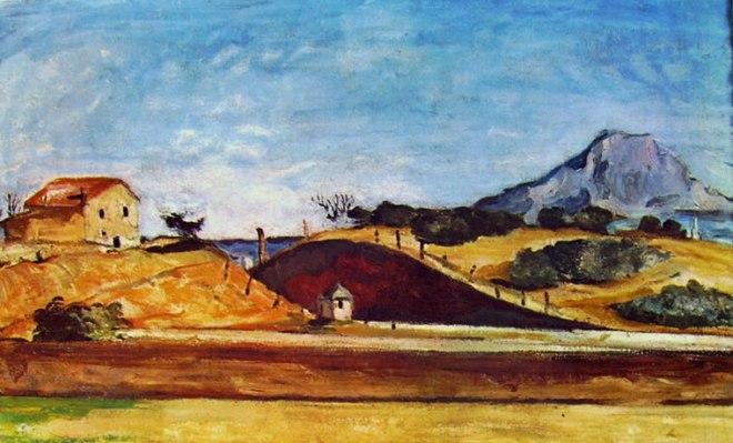 Paul Cezanne: Fossato con la montagna Sainte Victoire
