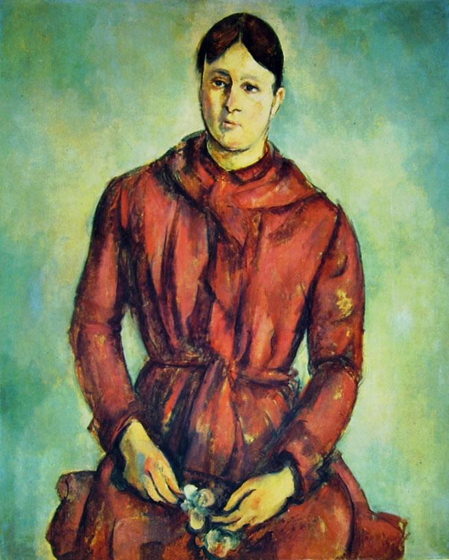 Paul Cezanne: La signora Cezanne in rosso