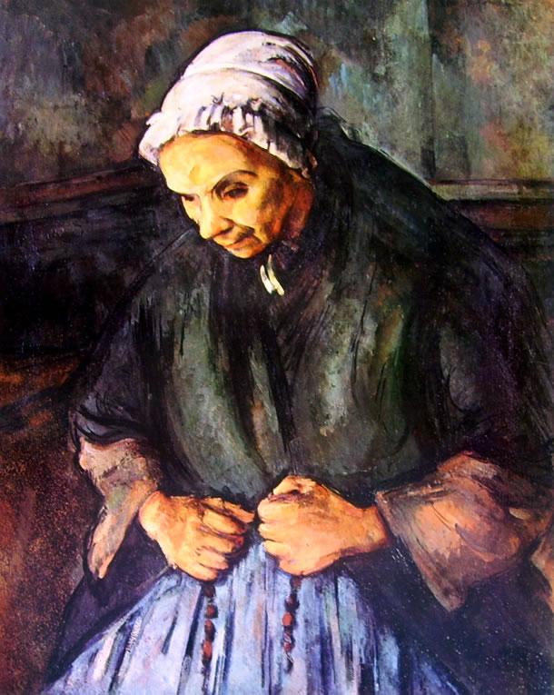 Paul Cezanne: Vecchia con rosario