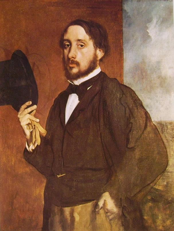 Edgar Degas: Degas che saluta