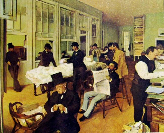 Mercato del cotone a New Orleans, 1873 tela