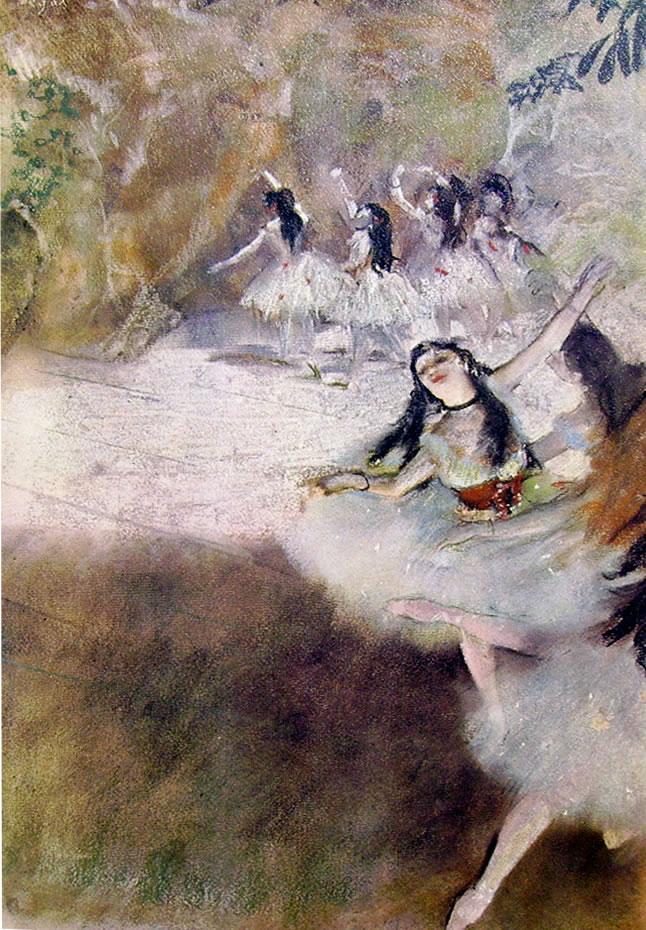 Sul palcoscenico, 1880 pastello cm. 57x43