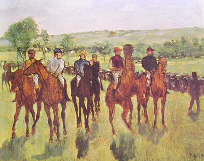 I cavalieri (la partenza della corsa)