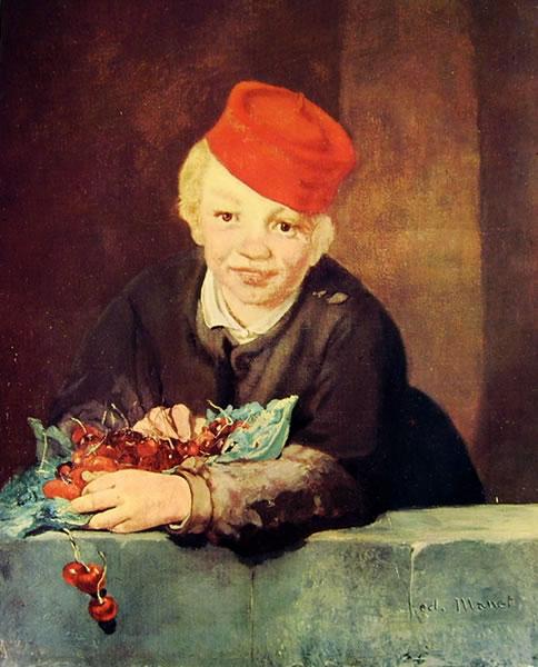 Edouard Manet: Ragazzo con ciliegie