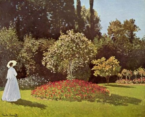 Claude Monet - Signora in giardino a Sainte-Adresse