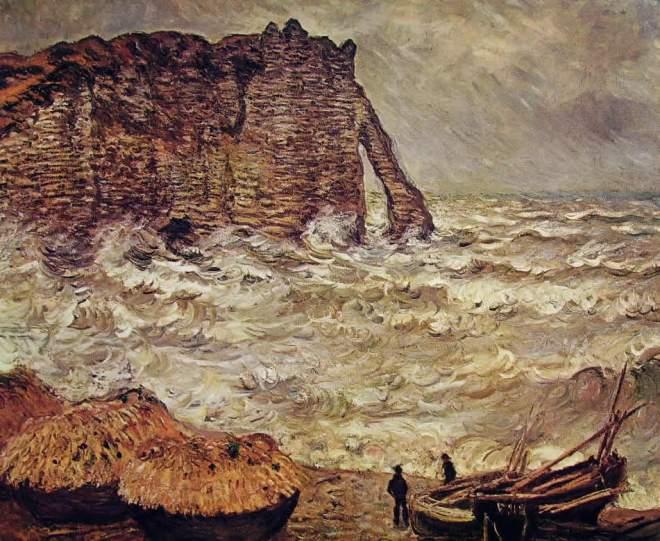 Claude Monet: Burrasca a Etretat