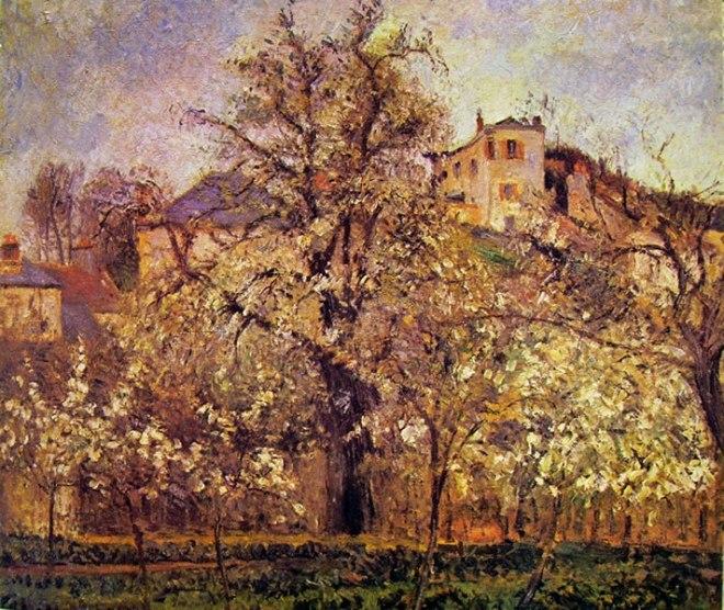 Camille Pissarro: Orto e alberi in fiore, Primavera a Pontoise