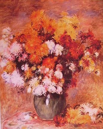 Renoir - Bouquet de chrisanthemes