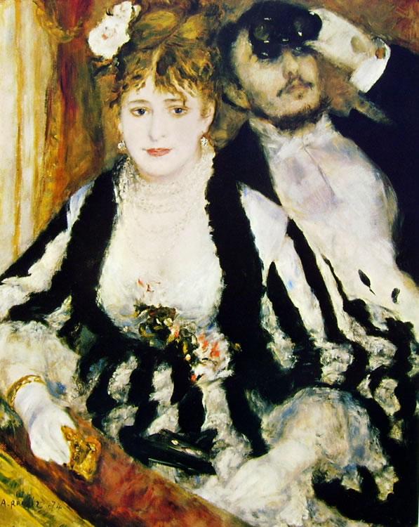 Il palco, 1874 olio su tela 80 x 64 Londra, Courtauld Gallery