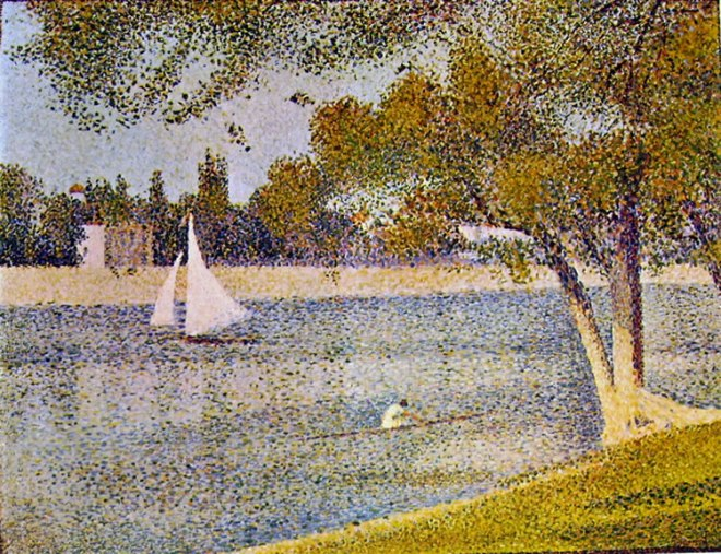 Georges-Pierre Seurat: Veduta alla grande Jatte in primavera