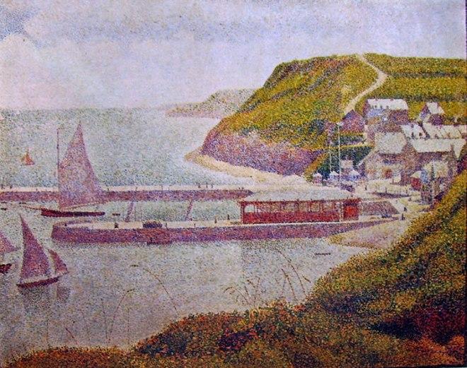 Georges-Pierre Seurat: Il porto di Port-en-Bessen in alta marea