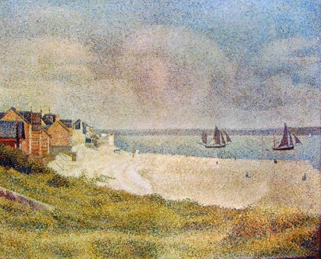Georges-Pierre Seurat: La veduta di Le Crotoy da Nord,