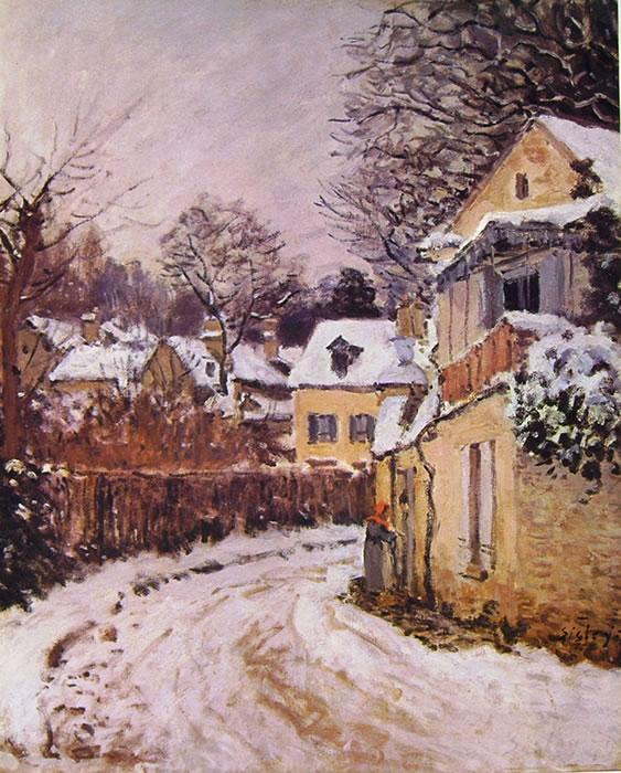 Alfred Sisley: Strada a Louveciennes