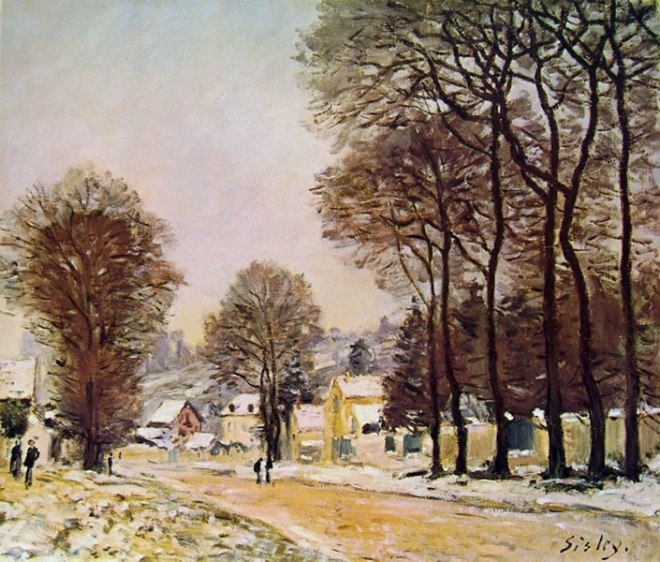Alfred Sisley: Neve a Louveciennes