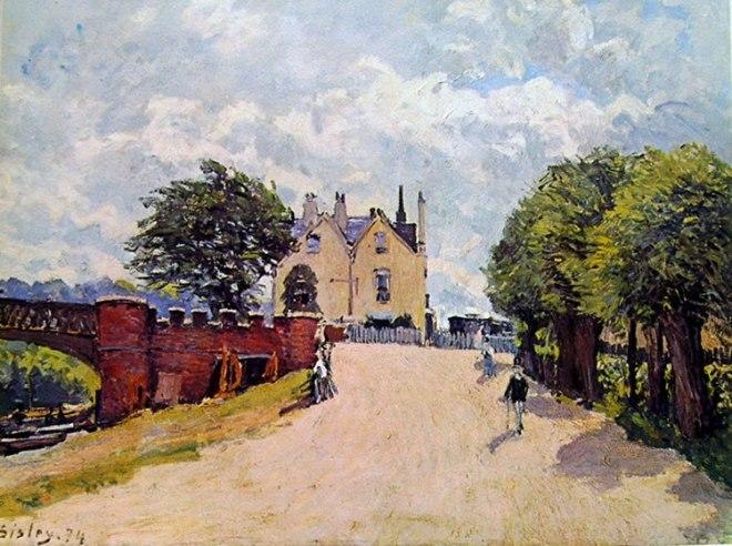 Alfred Sisley: Una locanda a Hampton Court