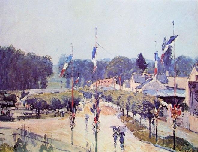 Alfred Sisley: Il 14 Luglio a Marly-le-Roy