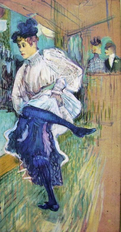 Toulouse-Lautrec: Jane Avril danzante