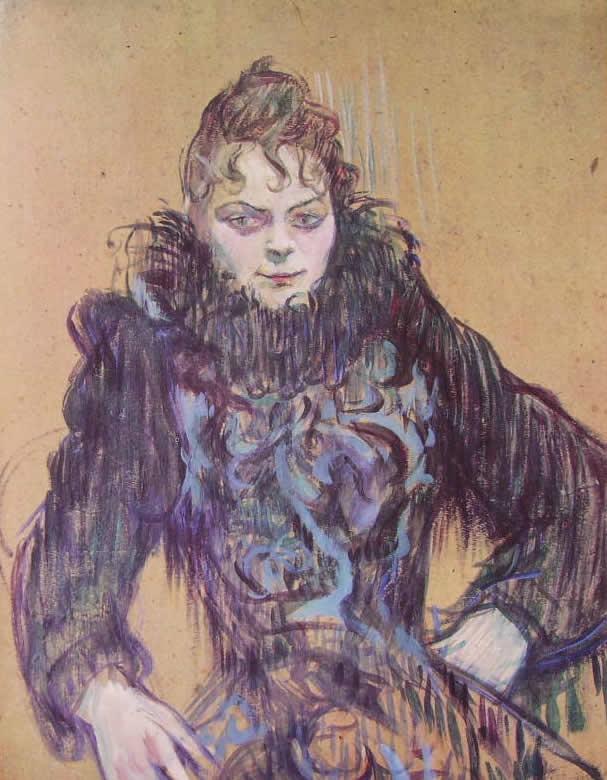 Toulouse-Lautrec: Donna dal Boa di Piume nere