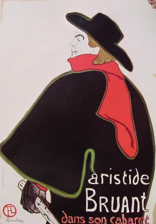 Toulouse-Lautrec: Alcazar Lyrique- Aristide Bruant